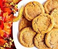 Pumpkin Cookies Royalty Free Stock Images