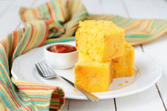 Pumpkin and Cornmeal Bread with Corn Kernels Stock Image