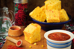 Pumpkin and Cornmeal Bread with Corn Kernels Royalty Free Stock Images