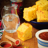 Pumpkin and Cornmeal Bread with Corn Kernels Royalty Free Stock Photography