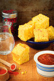 Pumpkin and Cornmeal Bread with Corn Kernels Royalty Free Stock Photo