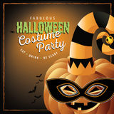 Pumpkin in costume Halloween party Royalty Free Stock Image