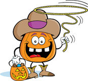 Pumpkin Cowboy Royalty Free Stock Photos