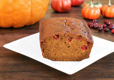 Pumpkin cranberry bread Royalty Free Stock Photography