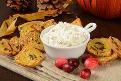 Pumpkin Cranberry Crisps Stock Photography
