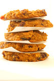 Pumpkin Cranberry Oatmeal Cookies. Stack of pumpkin cranberry oatmeal cookies Stock Photo