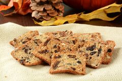 Pumpkin cranberry snack toasts Royalty Free Stock Photography
