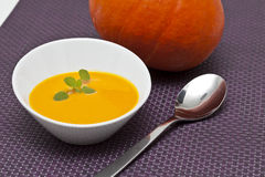 Pumpkin cream Royalty Free Stock Photography