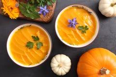 Pumpkin cream stock photos