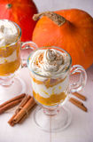 Pumpkin cream cheese trifle Royalty Free Stock Photo