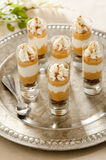 Pumpkin Cream Cheese Trifles Royalty Free Stock Images