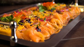 Pumpkin Cream and Fish. On a Plate royalty free stock photo