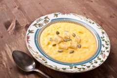 Pumpkin cream-soup Royalty Free Stock Photography