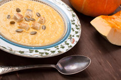 Pumpkin cream-soup Stock Images