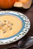 Pumpkin cream-soup Stock Photo