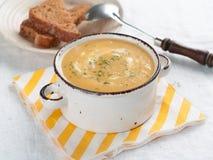 Pumpkin cream soup Stock Image