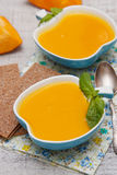 Pumpkin cream soup Stock Photography