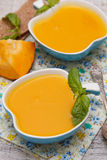 Pumpkin cream soup Royalty Free Stock Photo