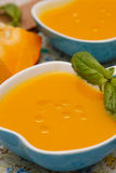 Pumpkin cream soup Royalty Free Stock Photos