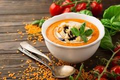Pumpkin cream soup Royalty Free Stock Photography