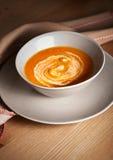 Pumpkin cream soup Royalty Free Stock Photos
