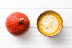 Pumpkin cream soup Royalty Free Stock Photo