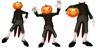 Pumpkin Creature. A funny Pumpkin Creature - isolated on white stock illustration