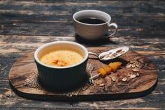 Pumpkin creme brulee royalty free stock image