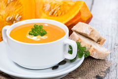 Pumpkin Creme Soup Royalty Free Stock Photos
