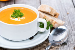 Pumpkin Creme Soup Royalty Free Stock Photography