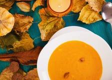 Pumpkin creme soup Stock Photos