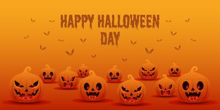 Happy halloween day background banner template vector illustration