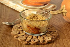 Pumpkin crumble in the form of glass Royalty Free Stock Images