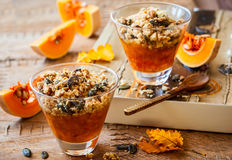 Pumpkin crumble Royalty Free Stock Image