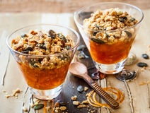 Pumpkin crumble Stock Image