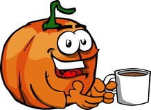 Pumpkin with a cup of coffee Stock Photography