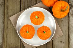 Pumpkin cupcakes Royalty Free Stock Photo