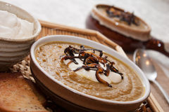 Pumpkin and Curry Soup Stock Photos