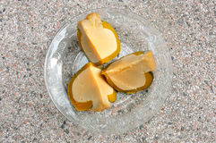 Pumpkin custard Royalty Free Stock Images