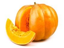 Pumpkin cut. On white background Royalty Free Stock Photos