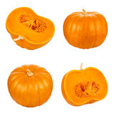 Pumpkin cut set Royalty Free Stock Images