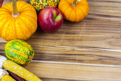 Pumpkin on cutting board Royalty Free Stock Images