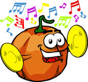 Pumpkin with cymbals Stock Image