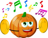 Pumpkin with cymbals Stock Images