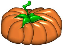 A pumpkin 3D illustration Royalty Free Stock Image