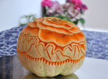 Pumpkin decorated Royalty Free Stock Photos