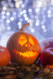 Pumpkin decorating ideas Royalty Free Stock Photo