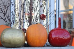Pumpkin Decorations Stock Images