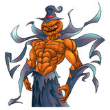 Pumpkin demon halloween Stock Image