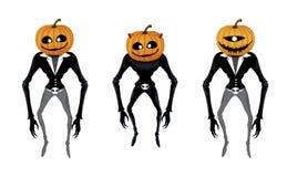 Pumpkin Devil Man Royalty Free Stock Image